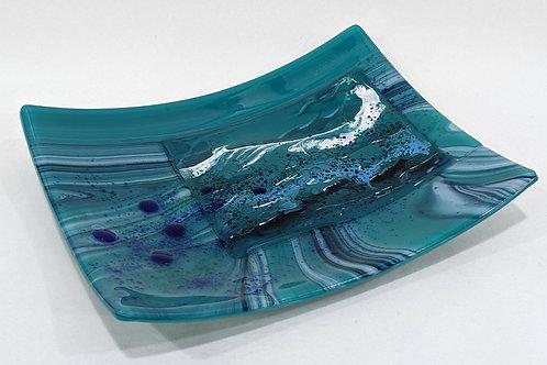 Sea Green Abstract platter