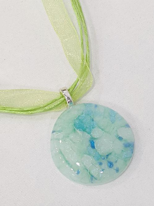 Blue Green Dichroic Pendant