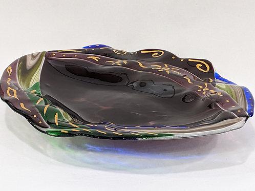 Royal Garden Art Glass Platter