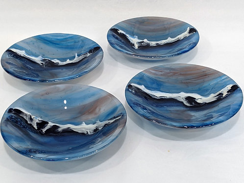 Sunset on the Water (four-bowl set)