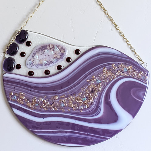 Purple and Gold wall hanging
