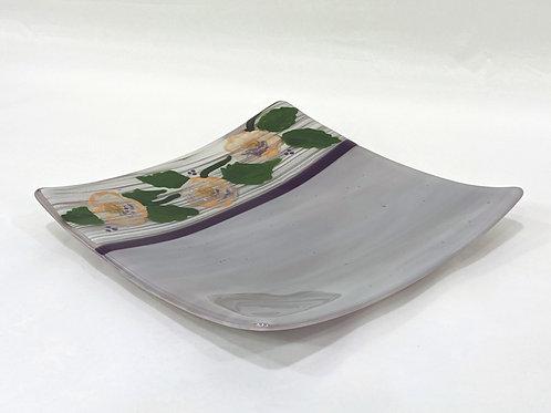 Hand-painted flower platter
