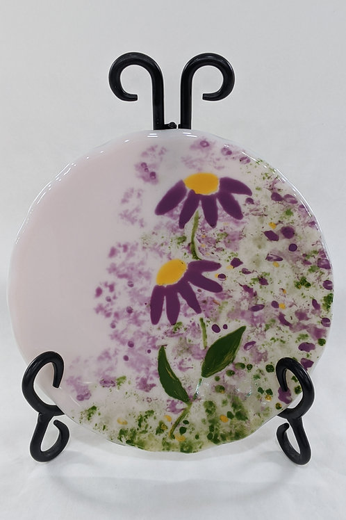 Hand-painted Coneflower bowl