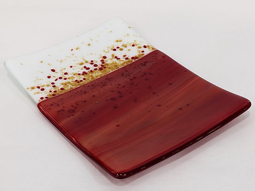 Red White and Gold platter