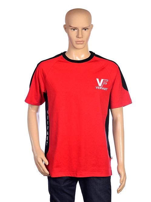 T-shirt Rood/Zwart