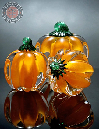 hand blown glass pumpkin gift anchor bend art glass fall decor mad in usa