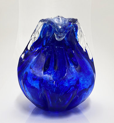 hand blow glass wave sculpture artr gift anchor bend glassworks ocean waves made in usa