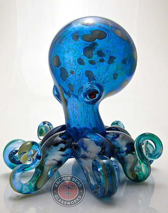hand blown glass art octopus sculpture gift anchor bend glassworks art newport ri made in usa