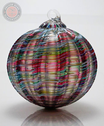 hand blown glass holiday ornament ribbon candy gift anchor bend glassworks made in the usa