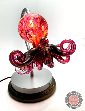 hand blown glass octopus light anchor bend glassworks gift table lamp led made in usa sea creature lighting
