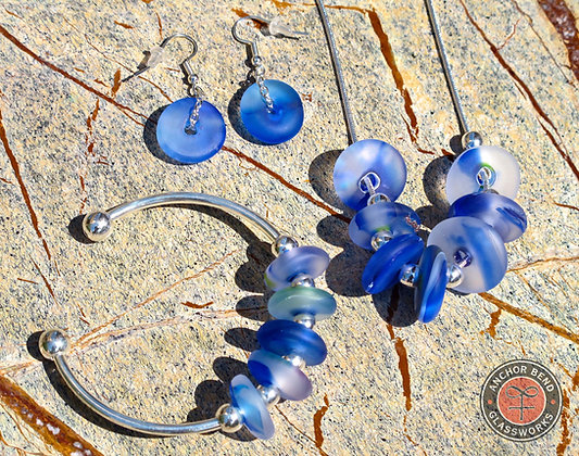 Seaglass Jewelry Set