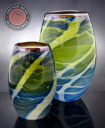 hand blown glass boat house votive vase gift centerpiece anchor bend glassworks newport restaurant group