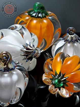 glassblowing hand made seasonal glass pumpkin gift anchor bend glassworks