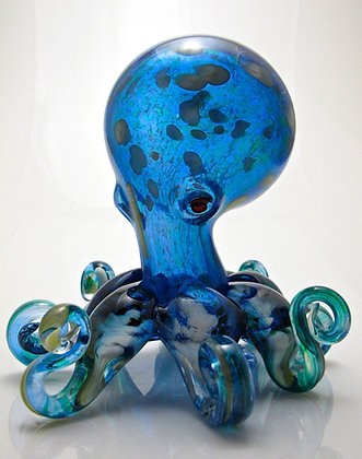 hand blown glass octopus anchor bend glassworks octo gift made in usa glass art sculpture
