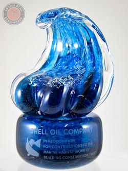 Custom Wave Trophy on Glass Base