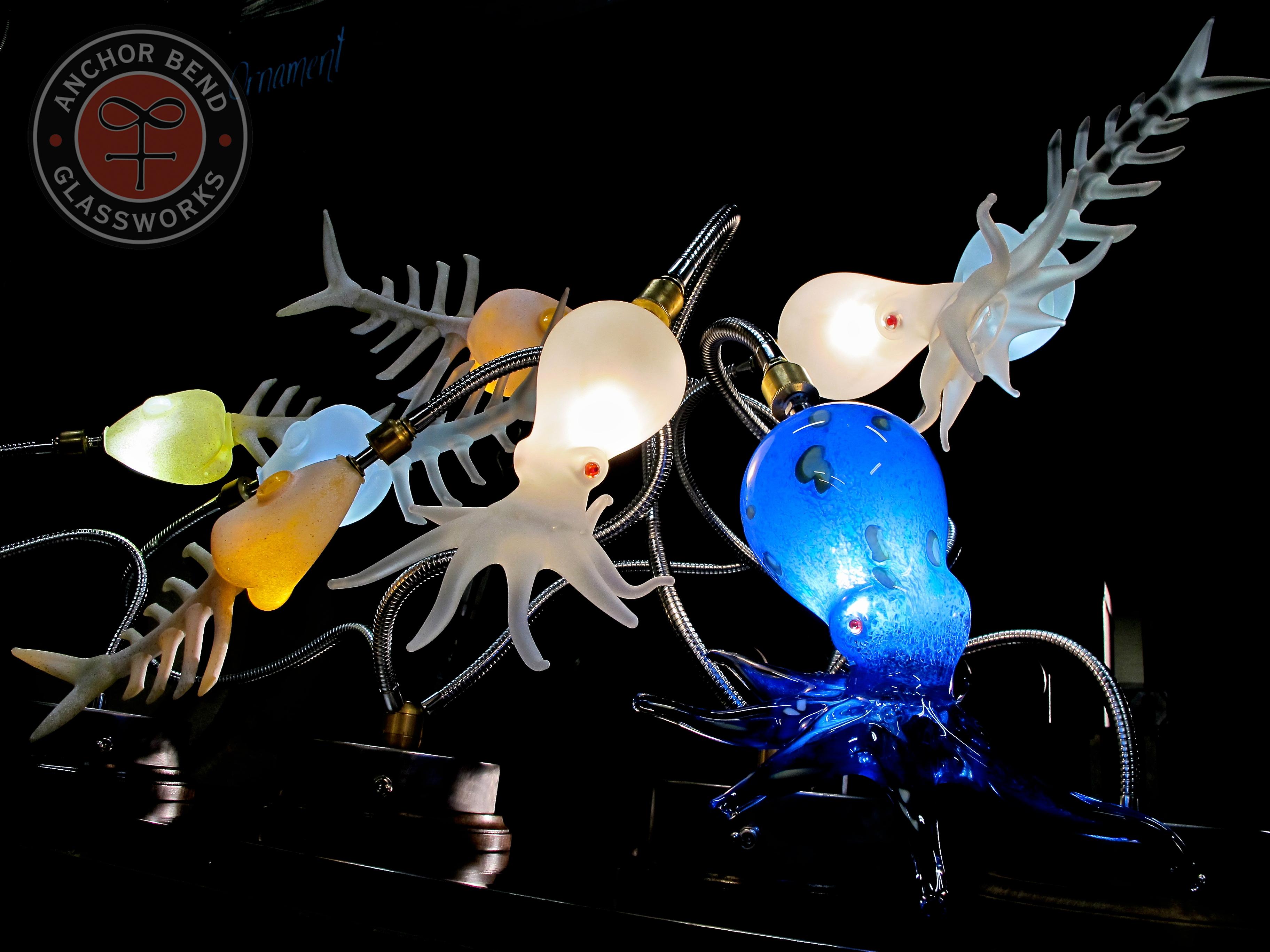 Octopus & Fishbone Lamps