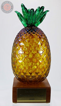 hand blown glass custom award pineapple trophy anchor bend glassworks corporate gift made in usa recognition art