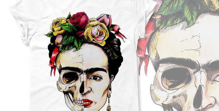 Футболка Фрида Frida's Skull