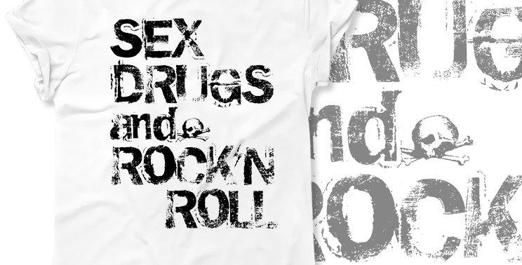 Футболка Sex Drugs and Rock'n Roll