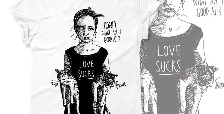Футболка Любовь отстой Love sucks