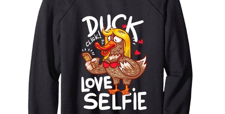 Свитшот Утка любит селфи Duck love selfie