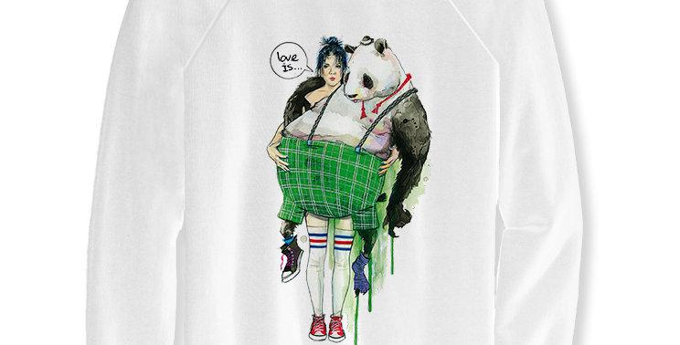Свитшот Любовь это... Love is Panda