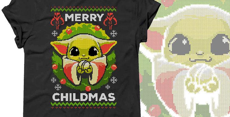 Футболка Merry Childmas Baby Yoda