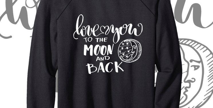 Свитшот Love you to the moon and back