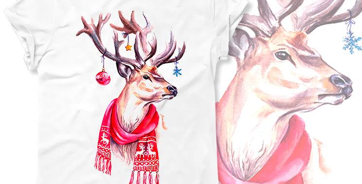 Футболка Рождественский олень