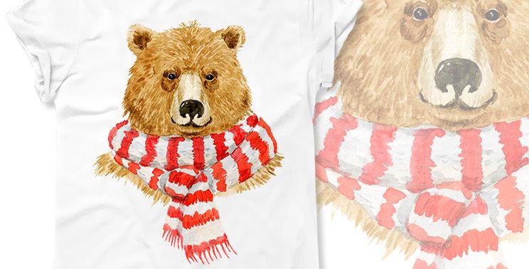 "Футболка ""Christmas bear"""