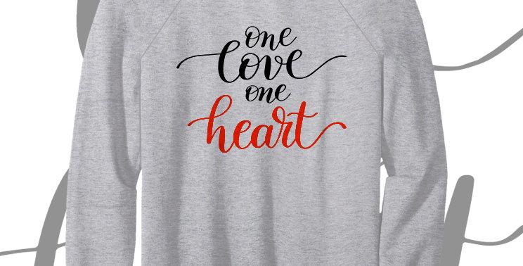 Свитшот One love one heart