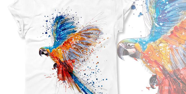 Футболка Цветной попугай - арт. 422