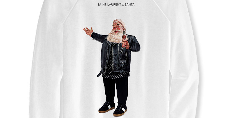 Свитшот Saint Laurent Santa