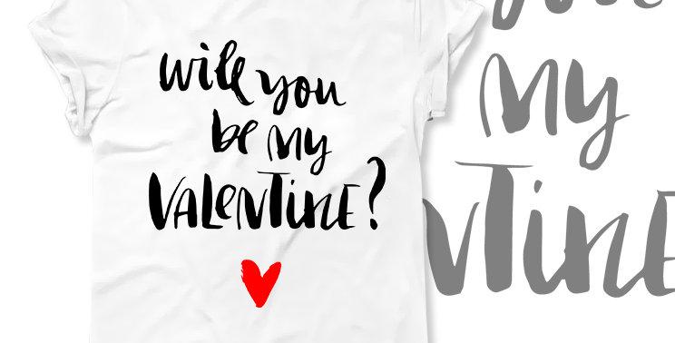 Футболка Will you be my Valentine?