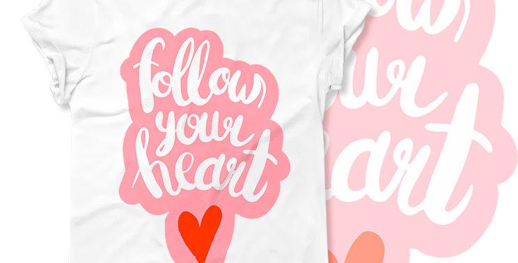 Футболка Follow your heart