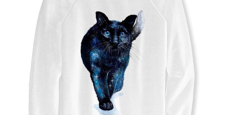 Свитшот Звездный кот Starry sky cat