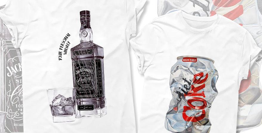 Футболки Whiskey&Cola