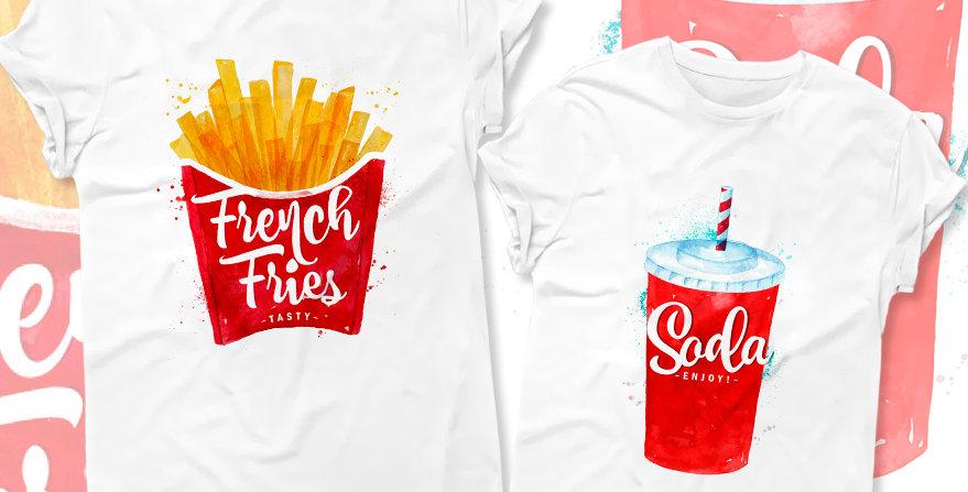 Футболки French fries&Soda