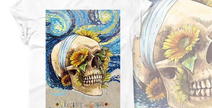 Футболка Skull Ван Гог