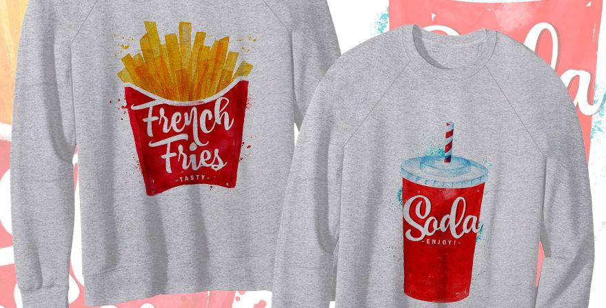 Свитшоты French fries&Soda