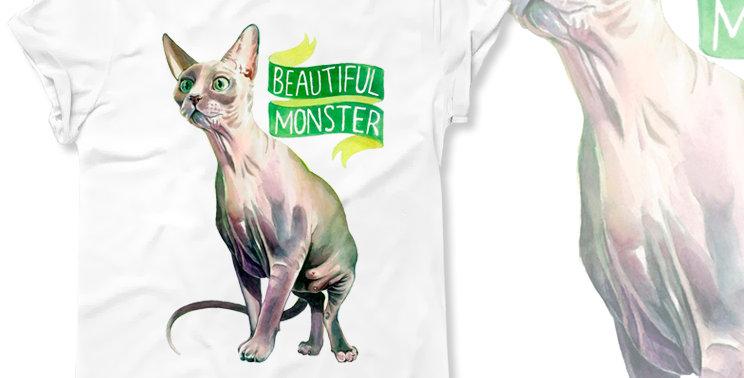 Футболка Сфинкс Beautiful monster