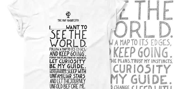 Футболка the Map manifesto