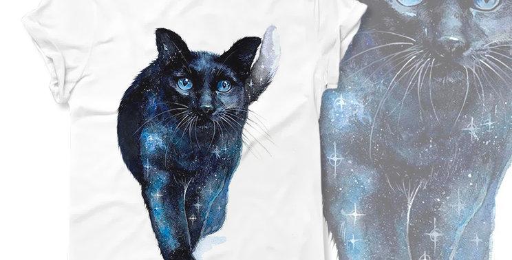 Starrysky cat T-shirt