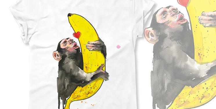 Футболка Обезьяна с бананом