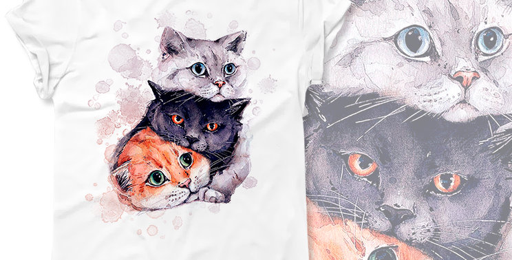Футболка Три кота