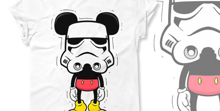 Футболка Stormtrooper Mickey Mouse - арт. 445