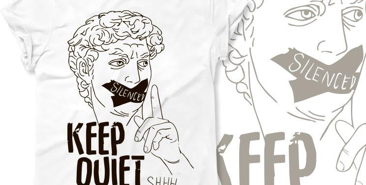 Футболка Соблюдай тишину Keep quiet