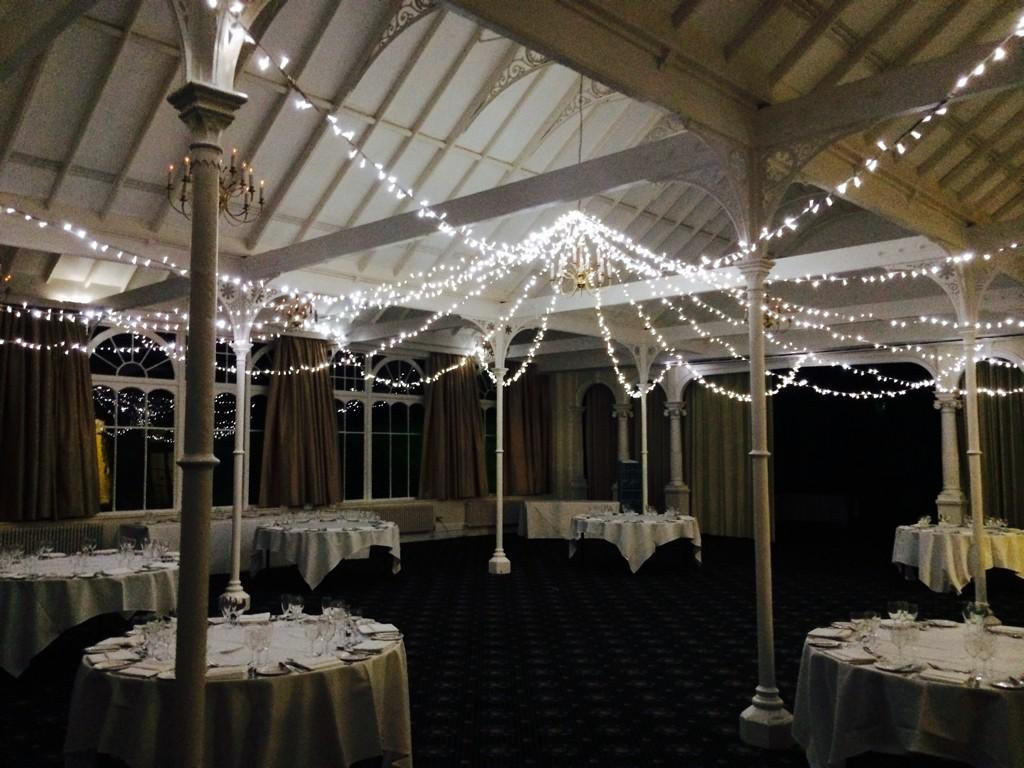fairy lit canopy at The Old Swan - Copy