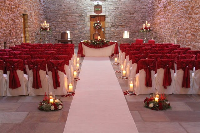 Browsholme Hall Deep Red Sateen