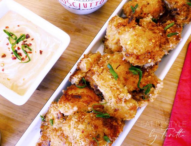 Crispy Chicken Bites with Smoky BBQ Chilli Sauce
